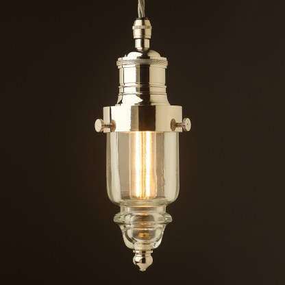 Cast nickel brass pin insulator No430 Clear SES pendant