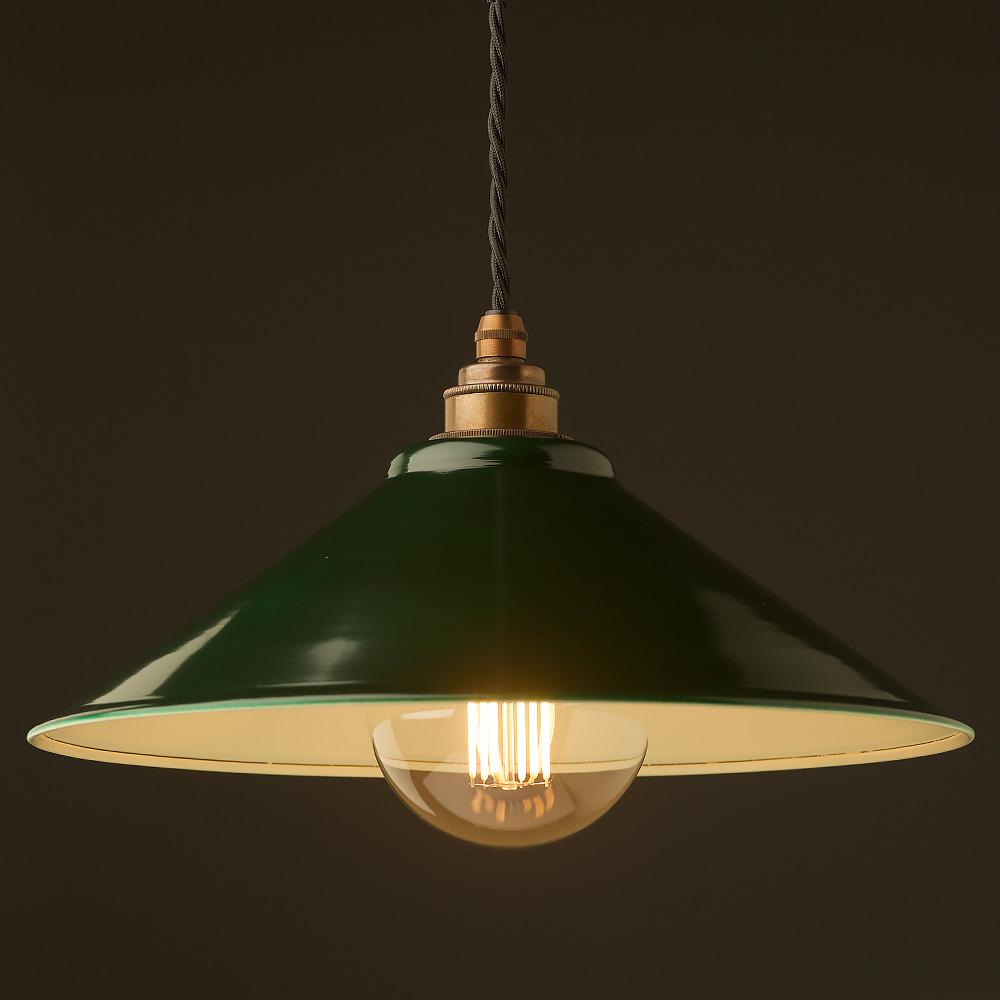 Dark green steel light shade 310mm Pendant