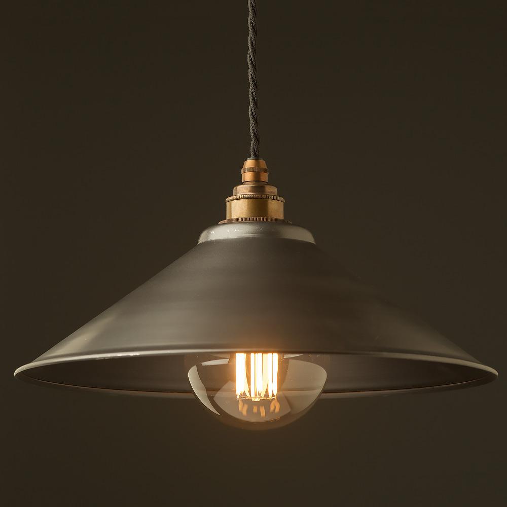 Rustic steel light shade 310mm Pendant
