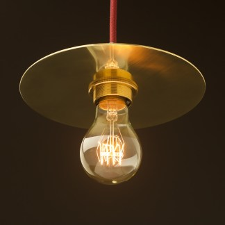 Solid Brass 180mm disc shade pendant