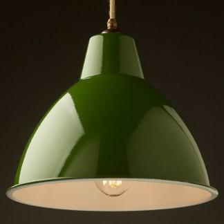 360mm Green enamel dome factory shade brass hardware pendant