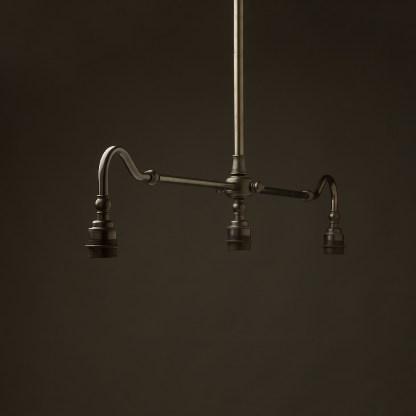 Bronze single drop Billiard Table Light no shade or gallery