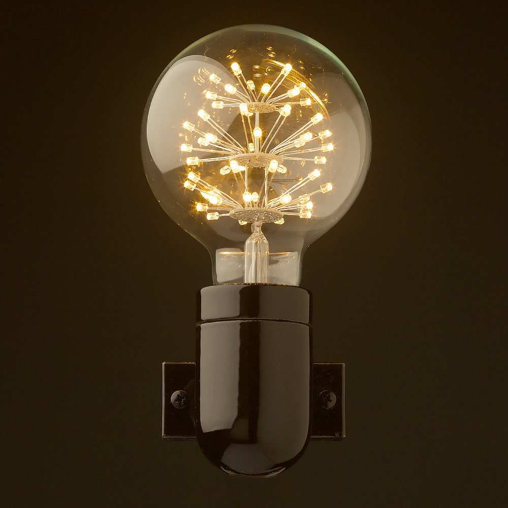 hight resolution of black porcelain wall light front g95 straw hat