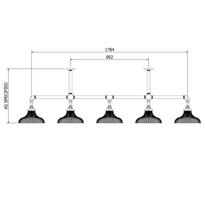 Plumbing Pipe Large Shade Long Table Light Dimensions