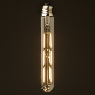 4 Watt Dimmable Filament LED E27 Clear Medium Tube