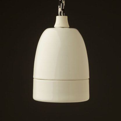 White porcelain lamp holder Edison E40