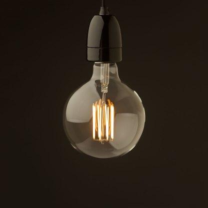 E40 Black porcelain pendant G150 LED
