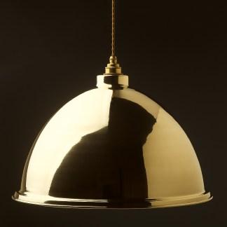 460mm Brass Dome Light Shade Pendant