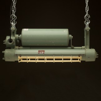 750mm Vintage green explosion proof twin tube light side