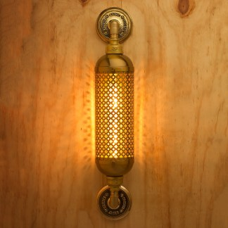 Brass Industrial Club&round wall guard tube light