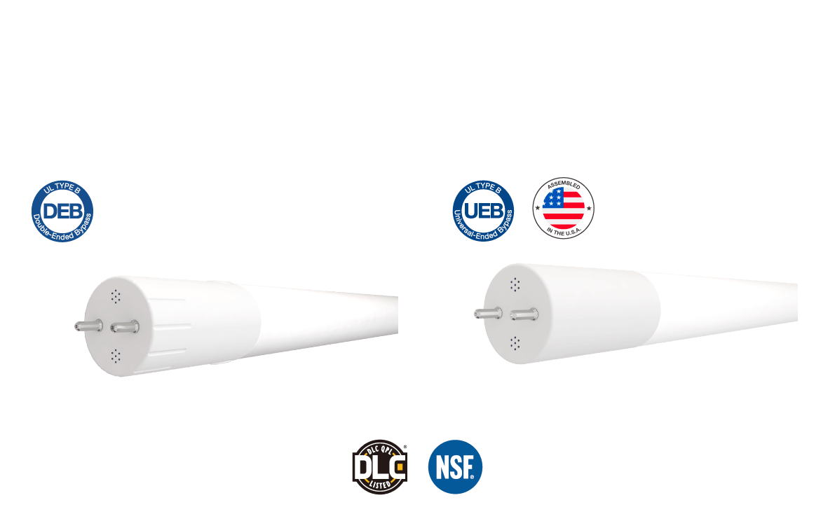 foot double ended bypass t8 lamps