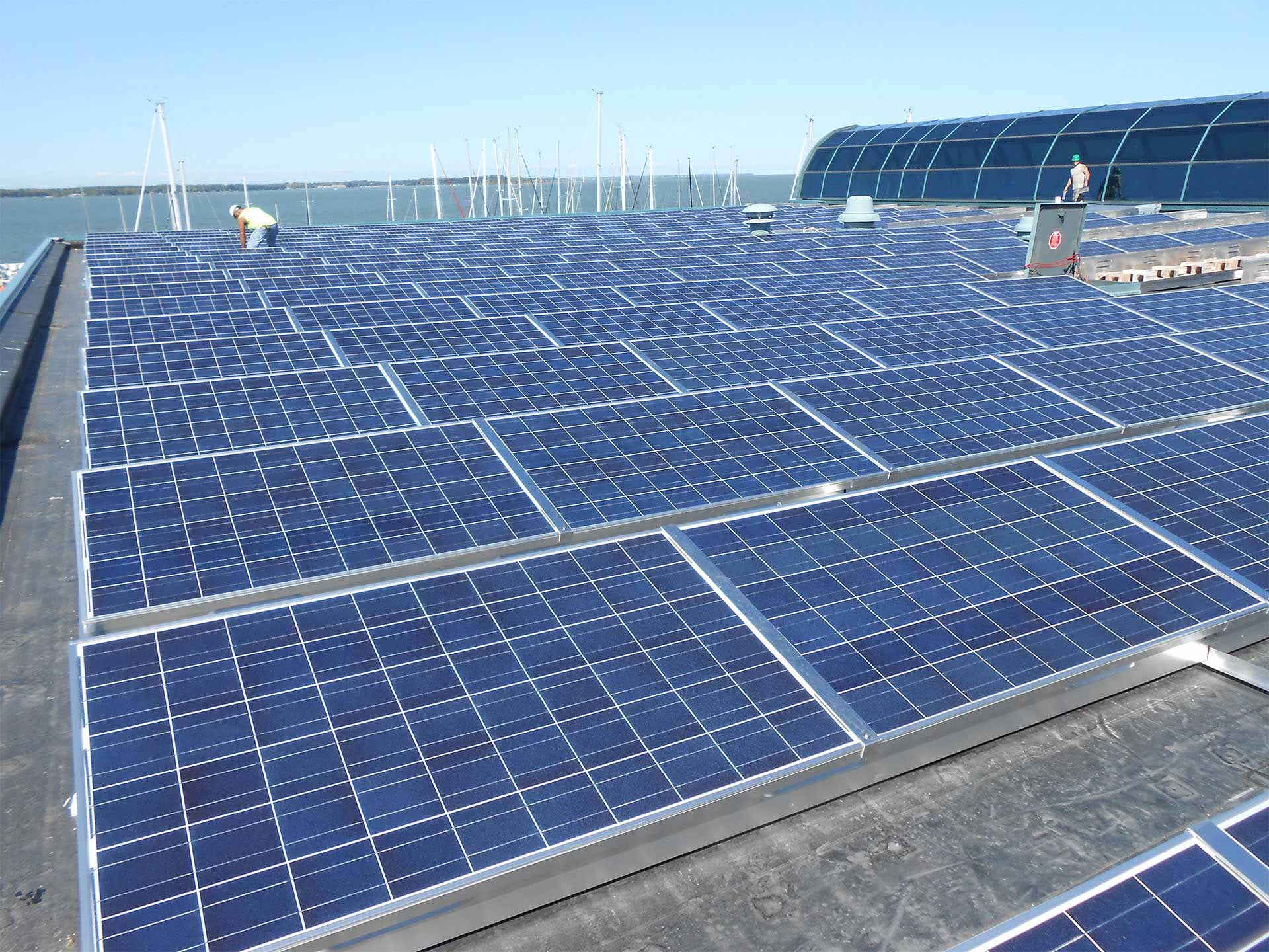 hight resolution of picture of large solar project in sandusky ohio