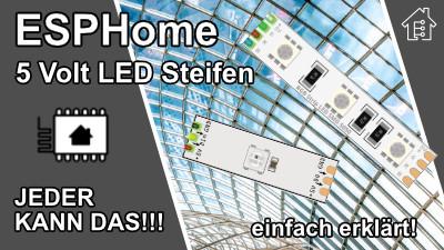 ESPHome 5 Volt LED Streifen einbinden