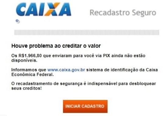 Email fraude Caixa
