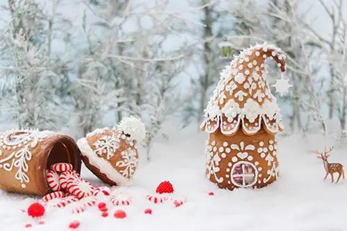 mason jar gingerbread houses