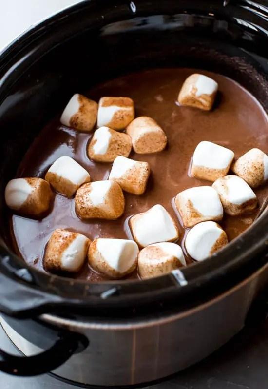 holiday hot chocolate bar