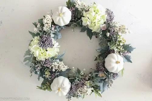 Fall wreath floral
