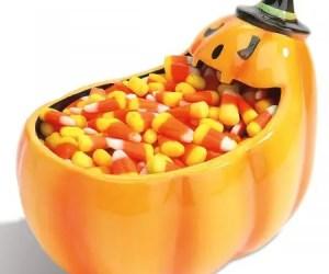 Candy Corn Pumpkin Bowl