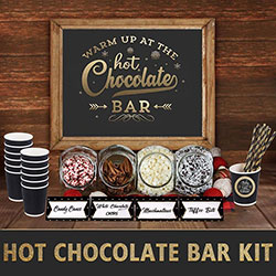 Hot Chocolate Bar Signs and Labels Kit