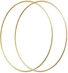 Gold Metal wreath Hoops