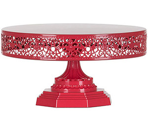 Red 12in cake stand
