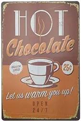 Vintage Metal Hot Chocolate Sign