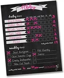 Household Chore Checklist-Job Chart- Dry Erase
