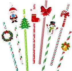 Christmas Themed Drinking Straws