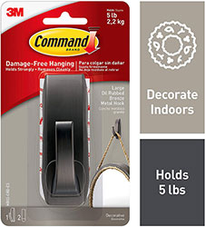 Command Modern Reflections Metal Mirror Hook