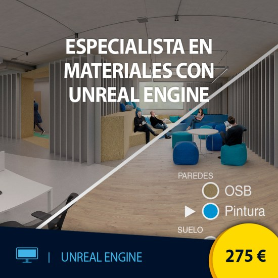 Curso online Especialista en materiales con Unreal Engine