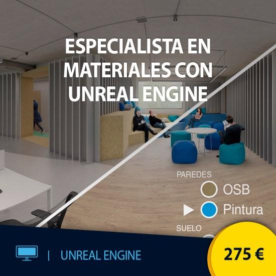 Curso online Especialista en materiales con Unreal Engine