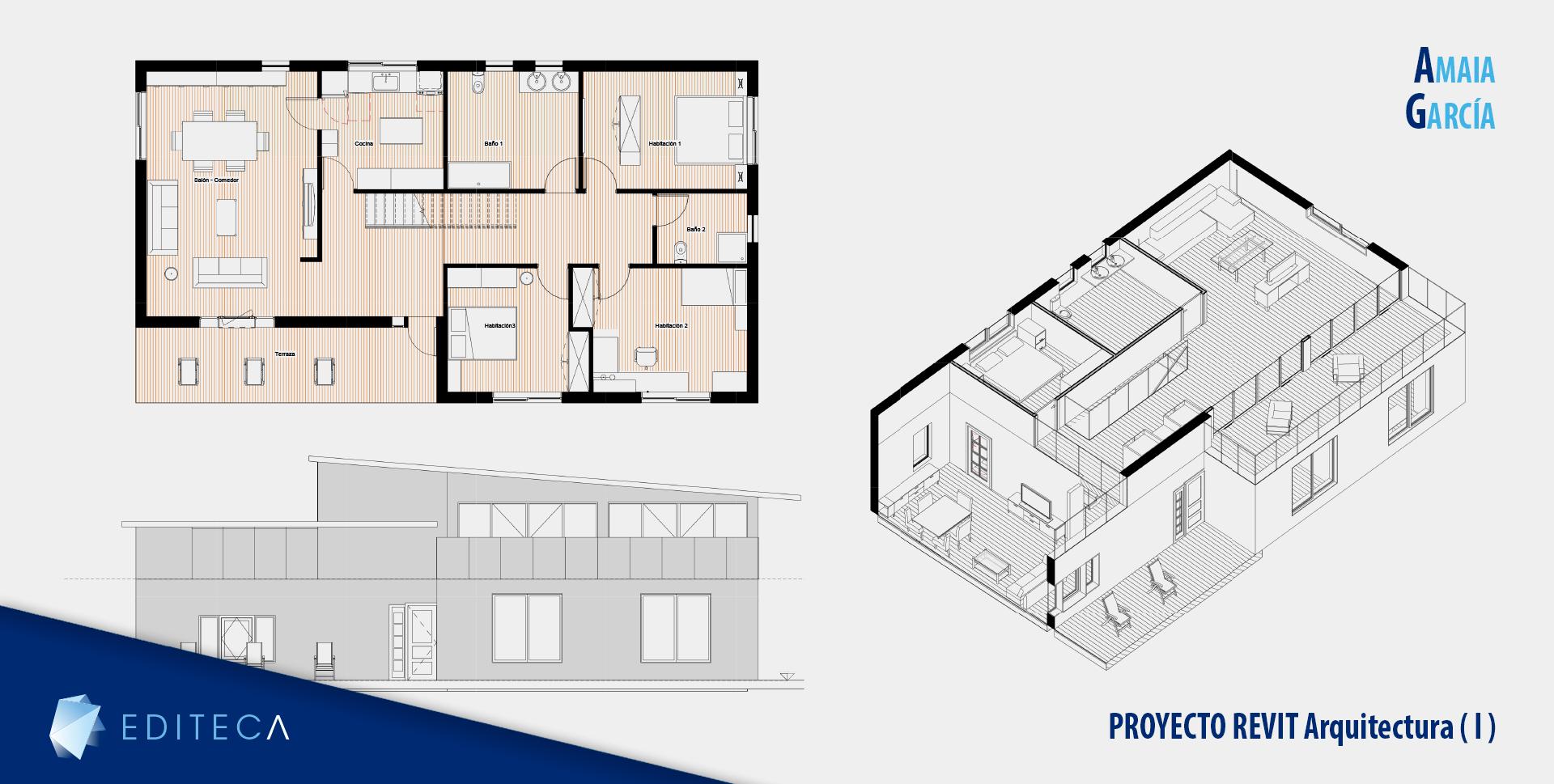 proyecto Curso de revit arquitectura básico - Amaia