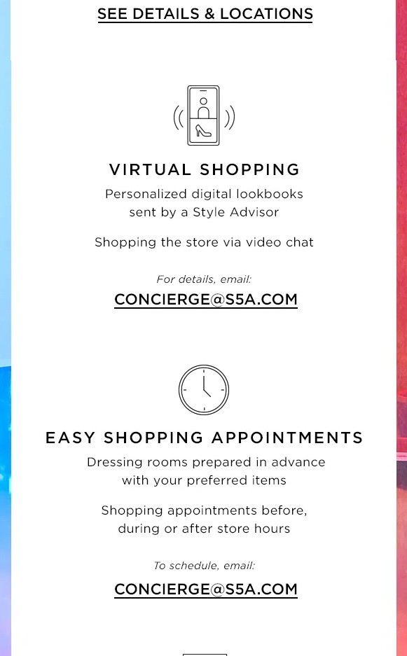 Saks Fifth Avenue Email Us May 14 2020
