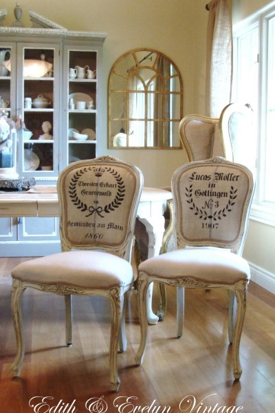 Frenchy Grain Sack Dining Chairs