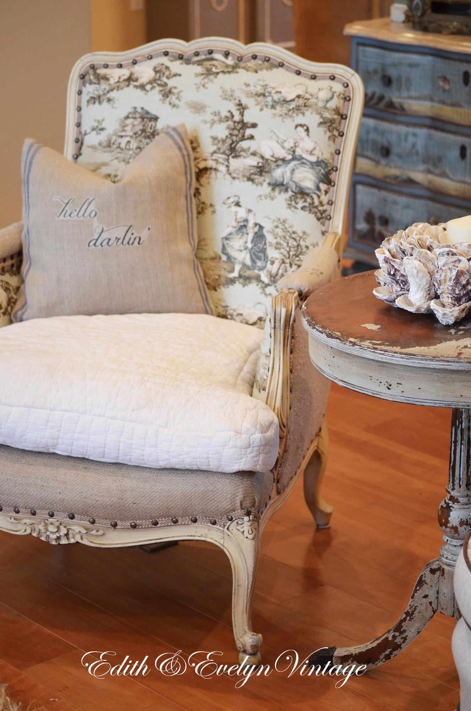 French Chair Rehab Edith Evelyn Vintage
