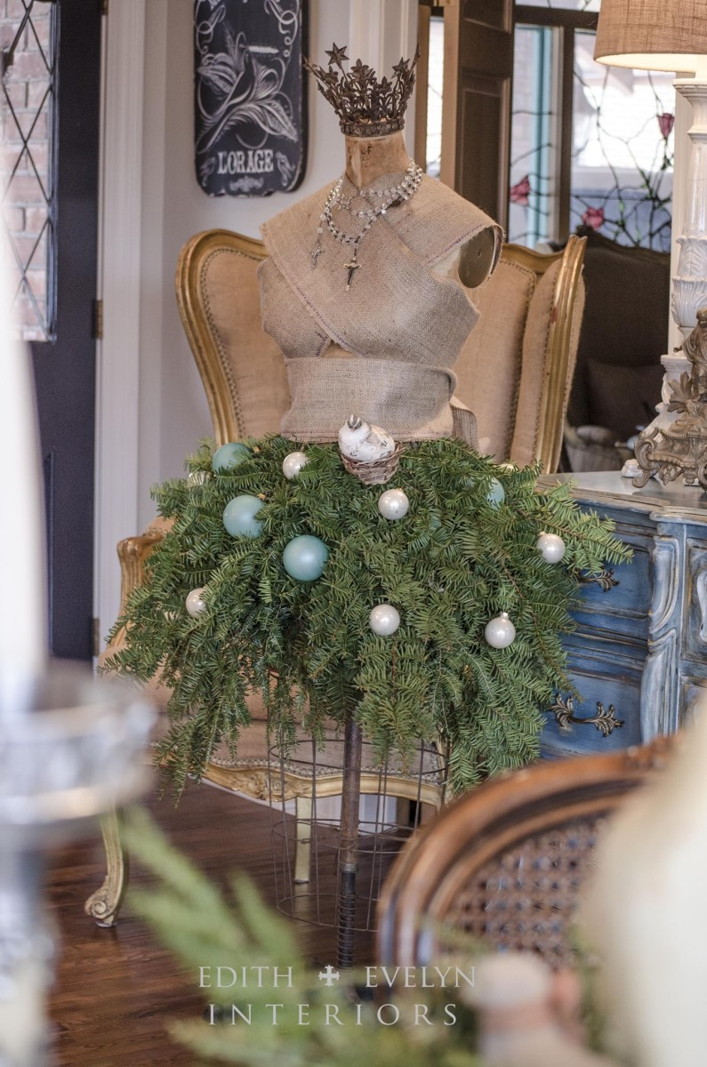 Simple Christmas Decor During Renovation   Mannequin Tree