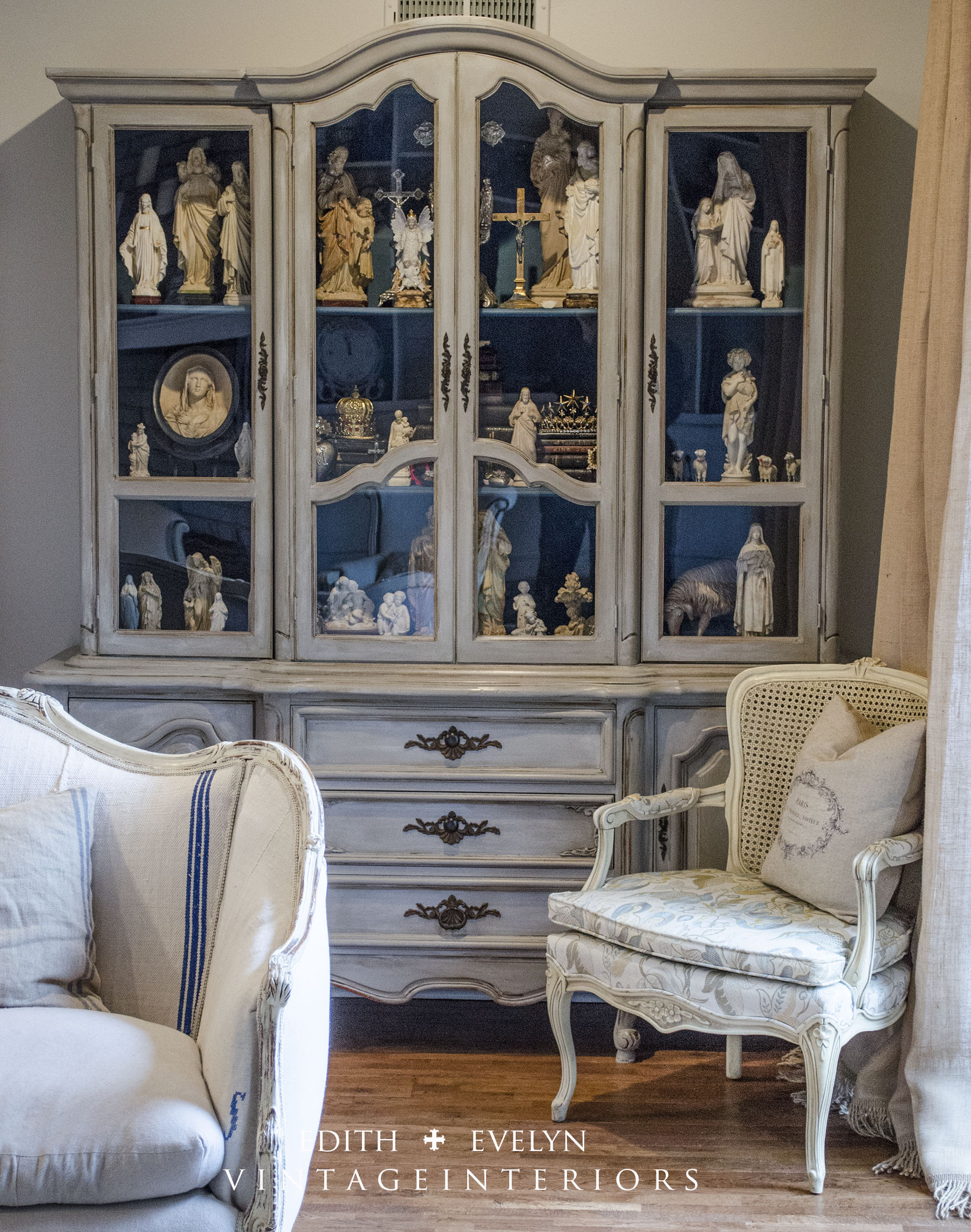 Living Room China Cabinet The China Cabinet Transformation Edith Evelyn Vintage
