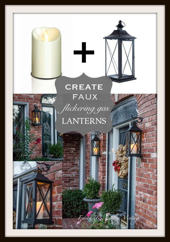 Faux Flickering Gas Lanterns | Edith & Evelyn Vintage | www.edithandevelynvintage.com