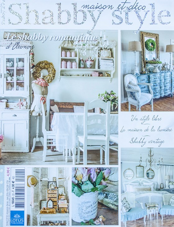 our french debut featured in shabby style french magazine edith evelyn. Black Bedroom Furniture Sets. Home Design Ideas
