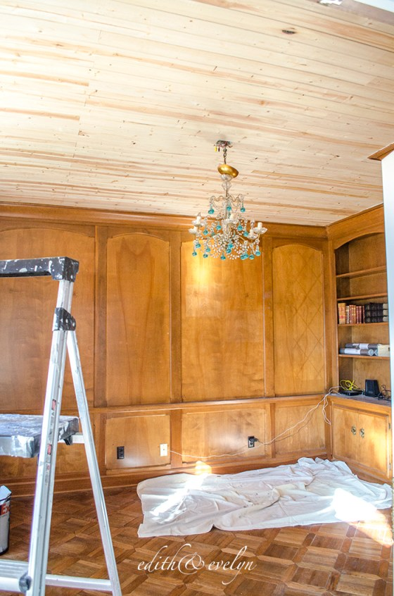 The Study Renovation Has Begun | Edith & Evelyn | www.edithandevelynvintage.com
