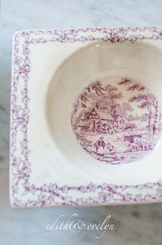 A New Collection | Purple Transferware | Edith & Evelyn | www.edithandevelynvintage.com