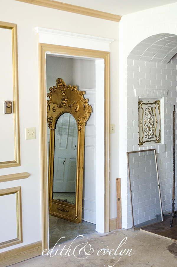 Adding Moulding to Doors | Edith & Evelyn | www.edithandevelynvintage.com