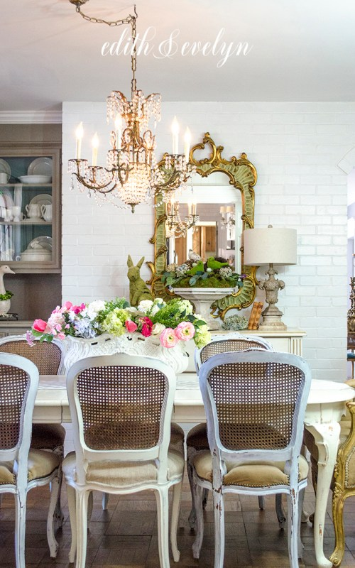 Dining Room Chairs And Spring Decor