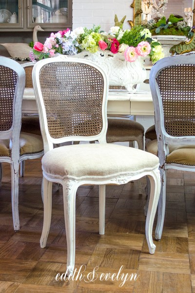 Homemade Glaze and Cane Chairs | Edith & Evelyn | www.edithandevelynvintage.com