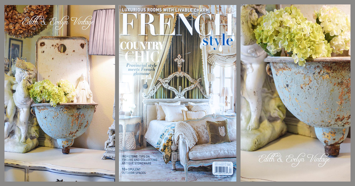 A French Lavabo And French Style Magazine Edith Amp Evelyn