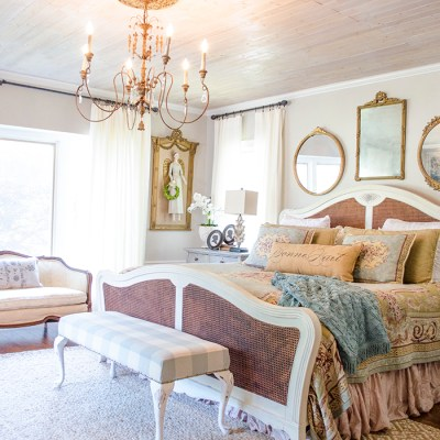 A New Look in the Master Bedroom | Edith & Evelyn | www.edithandevelynvintage.com