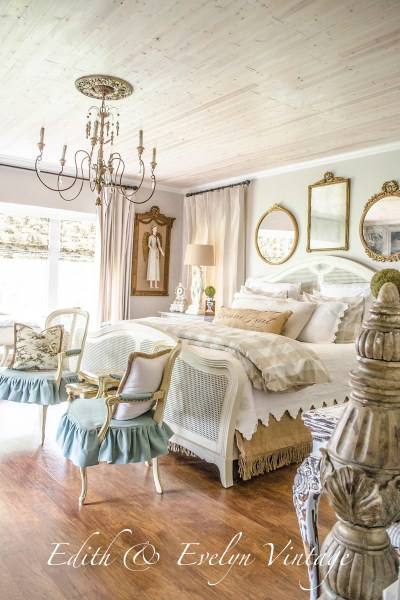 Transformation of a French Country Bedroom | Edith & Evelyn | www.edithandevelynvintage.com