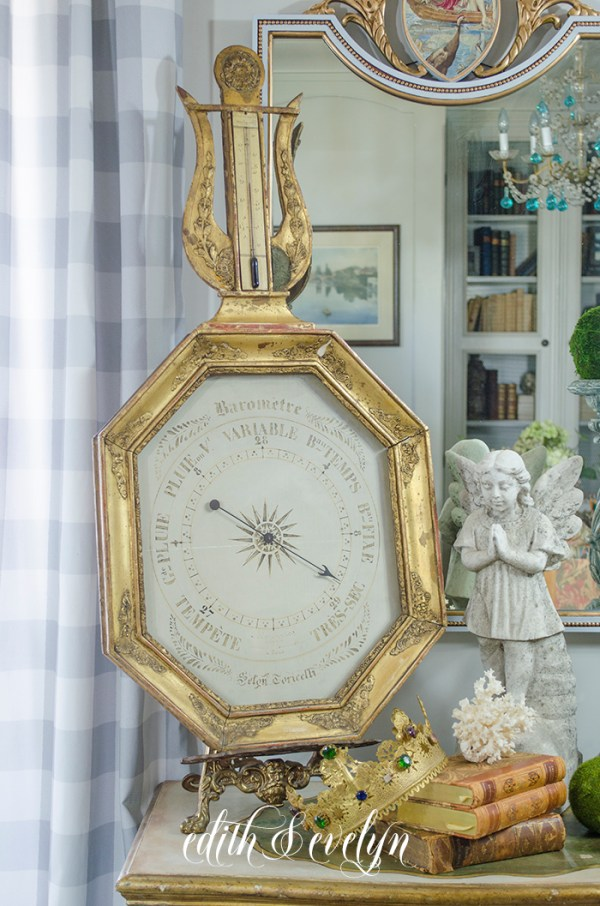 A French Barometer | Edith & Evelyn | www.edithandevelynvintage.com