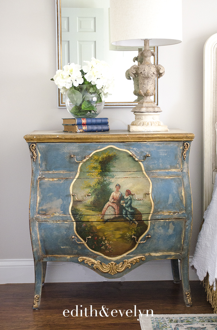 A Pretty French Chest Makeover   Edith & Evelyn   www.edithandevelynvintage.com
