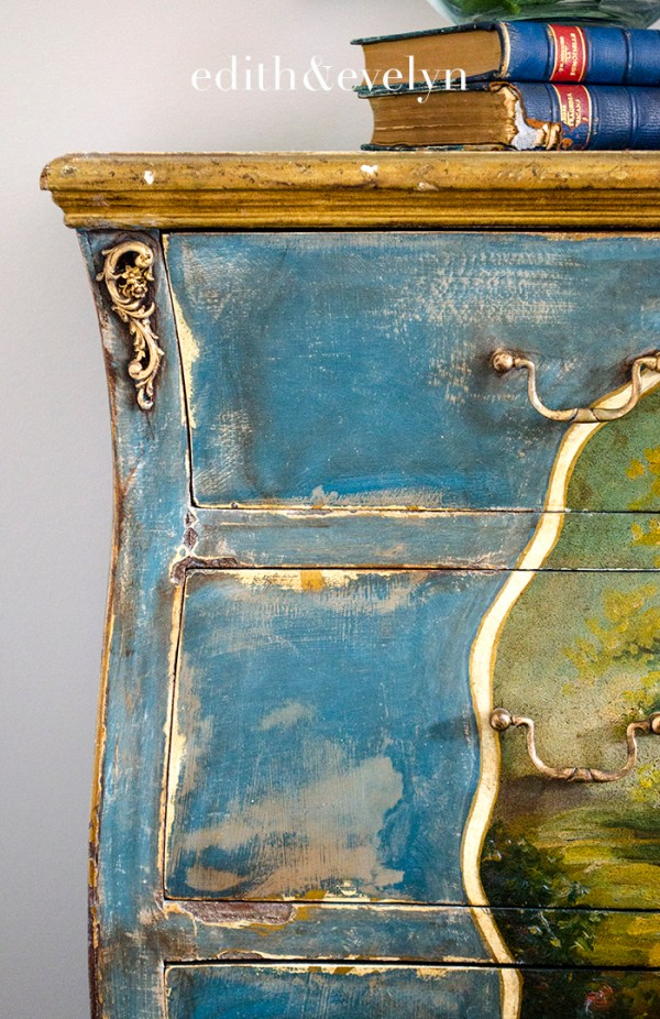 A French Chest Makeover | Edith & Evelyn | www.edithandevelynvintage.com
